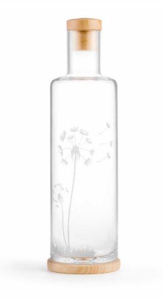 Elegantes Flaschendesign mit eingravierter Pusteblume - 1 Liter Inhalt