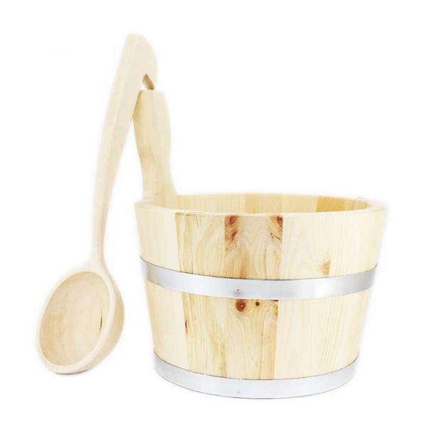 Saunakübel aus Zirbenholz