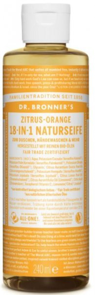 Naturseife Zitrus-Orange 18-in-1 Dr. Bronner's