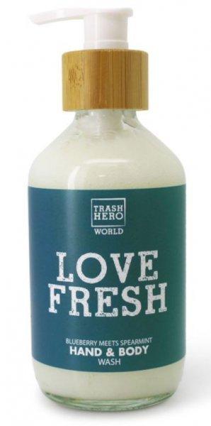 Love Fresh Handseife und Duschgel Blueberry und Spearmint