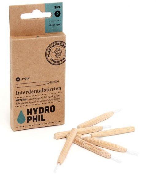 Interdentalbürsten aus Bambus 0,4mm - 0,6mm Hydro Phil