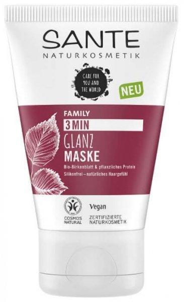 Glanz Haarmaske 3 Min Bio-Birkenblatt & pflanzliches Protein 100ml SANTE