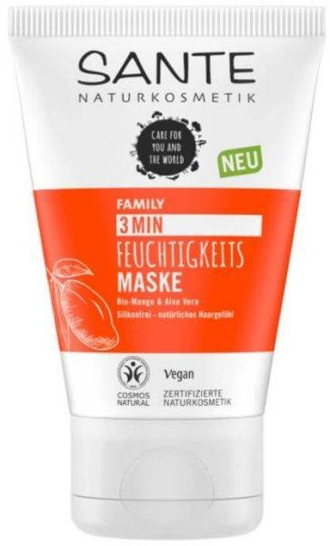 Feuchtigkeits Haarmaske 3 Min Bio-Mango & Aloe Vera 100ml SANTE