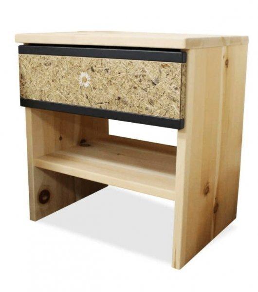 Nachttisch aus Zirbenmassivholz
