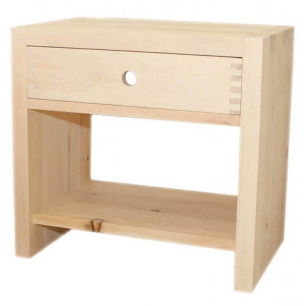 Nachttisch aus Arvenholz - 1 Ablage und 1 Schublade