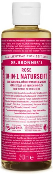 Naturseife Rose 18-in-1 Dr. Bronner's