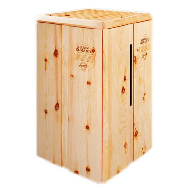 Klimabox aus Arvenholz