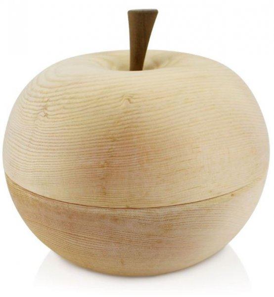 Apfelförmige Zirbenschale