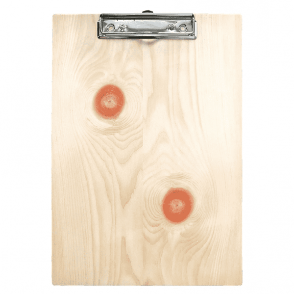 hochwertiges Klemmbrett aus Zirbenholz