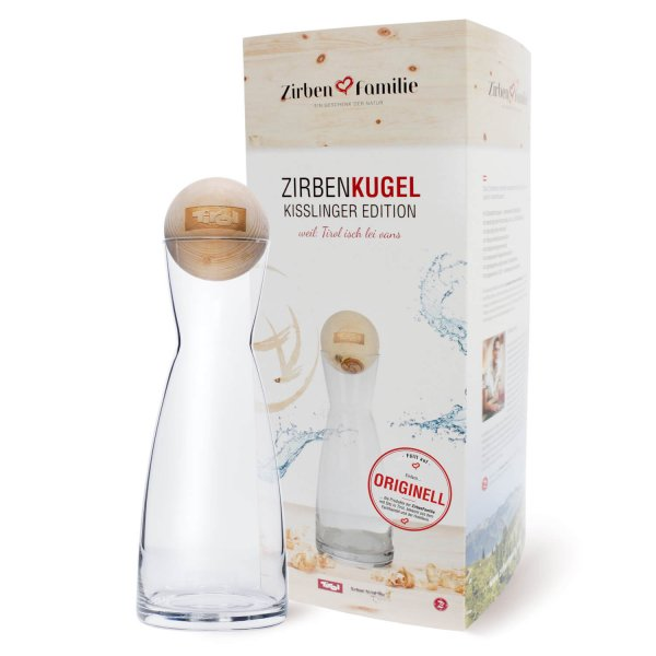 Zirbenkugel Wasserkaraffe Kisslinger Edition