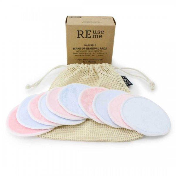 waschbare Abschminkpads farbig reuseme (10Stk.)