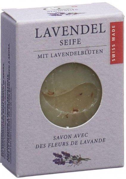 Lavendel Seife mit Lavendelblüten 90g Swiss Made