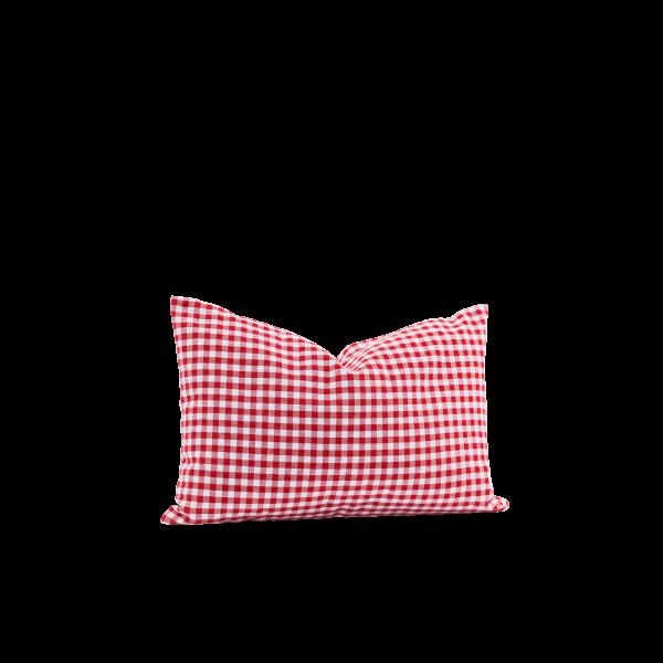 Zirbenkissen Karo 30 x 20 cm Rot