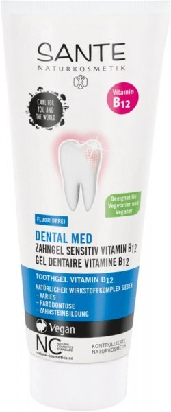 Dental Med Zahngel Sensitiv Vitamin B12 Fluoridfrei SANTE