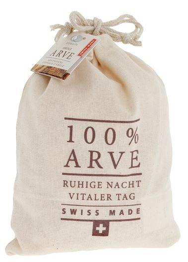 Grosser Arvenspäne-Sack mit 100% Arvenholzspänen befüllt, 200g