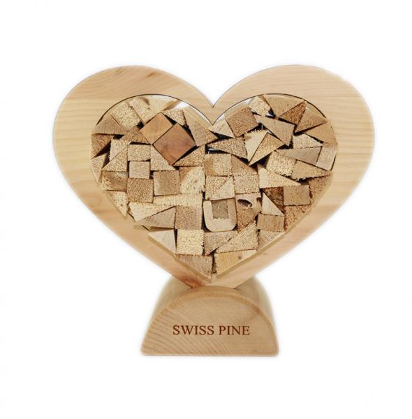 Swiss Pine Herz Kleinformat