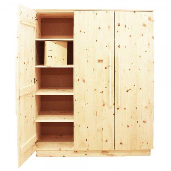 massivholzschrank aus zirbenholz. Black Bedroom Furniture Sets. Home Design Ideas