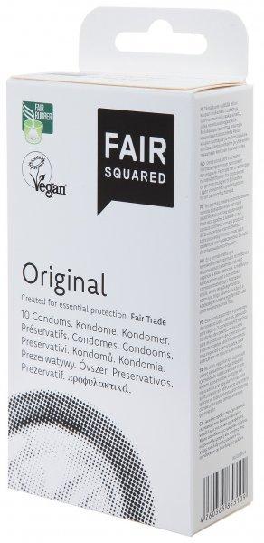 Original Kondome von Fair Squared in einer 10er Packung vegan und natürlich