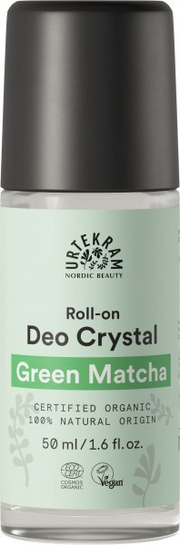 Green Matcha Deo Roll-On Crystal von Urtekram